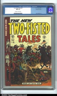 Two-Fisted Tales #37 Gaines File pedigree 9/12 (EC, 1954) CGC NM 9.4 Off-white to white pages. The background on the cov...