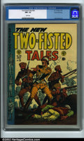 Golden Age (1938-1955):War, Two-Fisted Tales #38 Gaines File pedigree 9/12 (EC, 1954) CGC NM-9.2 White pages. Here is yet another attractive white cove...