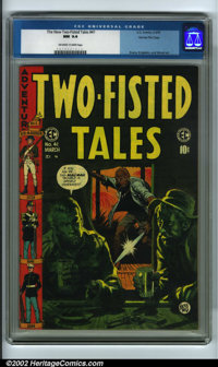 Two-Fisted Tales #41 Gaines File pedigree 9/12 (EC, 1955) CGC NM 9.4 Off-white to white pages. From the moody and evocat...