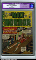 Golden Age (1938-1955):Horror, Vault of Horror #12 (EC, 1950) CGC Apparent VF/NM 9.0 Moderate (P),Cream pages. The quintessential horror book, ranked numb...