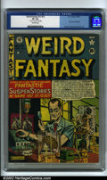 Golden Age (1938-1955):Science Fiction, Weird Fantasy #13 (#1) (EC, 1950) CGC VF 8.0 Off-white pages. Thisis the first issue of EC's popular sci-fi title Weird F...