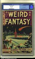 Golden Age (1938-1955):Science Fiction, Weird Fantasy #12 (EC, 1952) CGC VF+ 8.5 Off-white to white pages.EC's are incredibly difficult to find in really high-grad...
