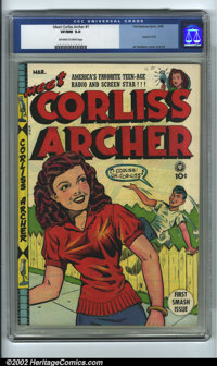 Meet Corliss Archer #1 (Fox, 1948) CGC VF/NM 9.0 Off-white to white pages. Al Feldstein would find greater fame in a cou...