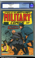 Golden Age (1938-1955):War, Military Comics #19 San Francisco pedigree (Quality, 1943) CGC NM 9.4 Off-white pages. Reed Crandall's incredible Nazi war c...