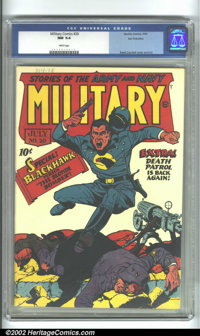 Military Comics #20 San Francisco pedigree (Quality, 1943) CGC NM 9.4 White pages. Not only is this a classic Nazi war c...