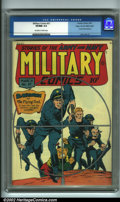 Golden Age (1938-1955):War, Military Comics #27 Mile High pedigree (Quality, 1944) CGC VF/NM 9.0 Off-white to white pages. Only an almost imperceptible ...