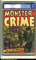 Golden Age (1938-1955):Horror, Monster Crime #1 (Hillman Publications, 1952) CGC VF 8.0 Off-whiteto white pages. When's the last time you saw this book? H...