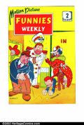 Golden Age (1938-1955):Humor, Motion Picture Funnies Weekly set of #2-4 (First Funnies, Inc., 1939). Here is a set of cover proofs from this never-publish...