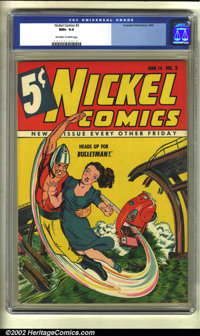 Nickel Comics #3 (Fawcett, 1940) CGC NM+ 9.6 Off-white to white pages. Offered here is surely the nicest specimen in exi...