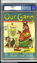 Golden Age (1938-1955):Humor, Our Gang #2 (Dell, 1942) CGC VF/NM 9.0 Off-white pages. Tom and Jerry make their cover debut in this, their second appearanc...