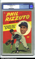 Golden Age (1938-1955):Non-Fiction, Phil Rizzuto Baseball Hero #nn (Fawcett, 1951) CGC VF/NM 9.0Off-white pages. This is a truly classic book, devoted to the Y...