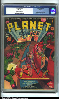 Planet Comics #1 Rockford pedigree (Fiction House, 1940) CGC VF- 7.5 Cream to off-white pages. The genius talents of Wil...