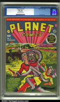 Golden Age (1938-1955):Science Fiction, Planet Comics #2 (Fiction House, 1940) CGC VG+ 4.5 Off-white towhite pages. Lou Fine delivers another classic and brilliant...