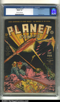 Planet Comics #3 (Fiction House, 1940) CGC FN/VF 7.0 Off-white to white pages. With its awesome cover by Will Eisner, th...