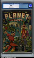 Golden Age (1938-1955):Science Fiction, Planet Comics #10 (Fiction House, 1941) CGC VF 8.0 Cream tooff-white pages. Zolnerowich did the cover to this great book, h...