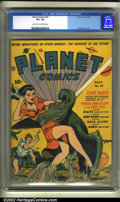 Golden Age (1938-1955):Science Fiction, Planet Comics #20 (Fiction House, 1942) CGC VF+ 8.5 Light tan to off-white pages. Zolnerowich has created another incredible...