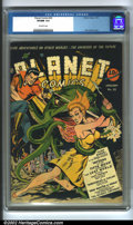 Golden Age (1938-1955):Science Fiction, Planet Comics #22 (Fiction House, 1943) CGC VF/NM 9.0 Off-whitepages. Zolnerowich covers are as well recognized as Timely S...