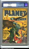 Golden Age (1938-1955):Science Fiction, Planet Comics #24 Rockford pedigree (Fiction House, 1943) CGC NM-9.2 Cream to off-white pages. This incredible Fiction Hous...