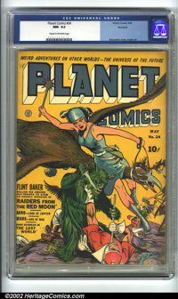Planet Comics #24 Rockford pedigree (Fiction House, 1943) CGC NM- 9.2 Cream to off-white pages. This incredible Fiction...