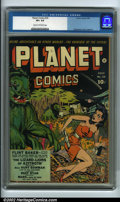 Golden Age (1938-1955):Science Fiction, Planet Comics #25 (Fiction House, 1943) CGC VF+ 8.5 Cream tooff-white pages. Here is an extremely nice, high-grade copy of ...