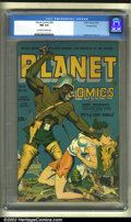 Golden Age (1938-1955):Science Fiction, Planet Comics #30 Crowley pedigree (Fiction House, 1944) CGC NM 9.4Off-white to white pages. This title, like all the books...