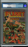 Golden Age (1938-1955):Science Fiction, Planet Comics #31 (Fiction House, 1944) CGC VF 8.0 Off-white towhite pages. This issue of Planet Comics has a wild cove...