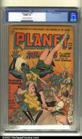 Golden Age (1938-1955):Science Fiction, Planet Comics #32 (Fiction House, 1944) CGC VF/NM 9.0 Cream tooff-white pages. A gorgeous cover in no small part owing to t...