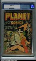 Golden Age (1938-1955):Science Fiction, Planet Comics #33 (Fiction House, 1944) CGC VF/NM 9.0 Cream to off-white pages. Hunt Bowman fights off aliens on this exciti...