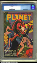 Golden Age (1938-1955):Science Fiction, Planet Comics #37 (Fiction House, 1945) CGC VF+ 8.5 Off-whitepages. An electrifying Space Rangers cover spotlights this iss...