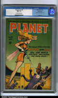 Golden Age (1938-1955):Science Fiction, Planet Comics #38 Crowley pedigree (Fiction House, 1945) CGC NM-9.2 Off-white to white pages. To a Fiction House aficionado...