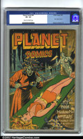 Golden Age (1938-1955):Science Fiction, Planet Comics #41 (Fiction House, 1946) CGC VF+ 8.5 Cream tooff-white pages. Thrilling cover by Lubbers finds Mysta (you kn...