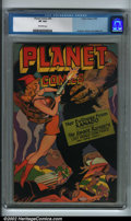 Golden Age (1938-1955):Science Fiction, Planet Comics #45 (Fiction House) CGC VF 8.0 Off-white pages. Allthe science-fiction titles following this Fiction House ma...