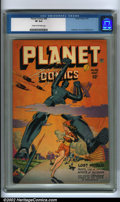 Golden Age (1938-1955):Science Fiction, Planet Comics #48 (Fiction House, 1947) CGC VF 8.0 Cream tooff-white pages. If you like your interplanetary action, robot r...