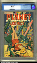 Golden Age (1938-1955):Science Fiction, Planet Comics #53 (Fiction House, 1948) CGC NM- 9.2 Off-white towhite pages. Dr. Frederic Wertham referred to this issue in...