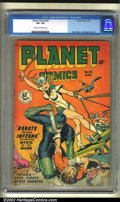 Golden Age (1938-1955):Science Fiction, Planet Comics #54 (Fiction House, 1948) CGC VF+ 8.5 Cream tooff-white pages. By the time such long-running science-fiction ...