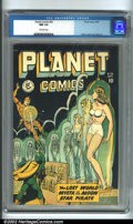 Golden Age (1938-1955):Science Fiction, Planet Comics #56 (Fiction House) CGC NM 9.4 Off-white pages.Fiction House's flagship titles have been popular with collect...