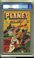 Golden Age (1938-1955):Science Fiction, Planet Comics #60 (Fiction House, 1949) CGC VF 8.0 Off-white pages.A pretty copy with light edge wear and a pencilled arriv...