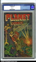 Golden Age (1938-1955):Science Fiction, Planet Comics #68 (Fiction House, 1952) CGC VF+ 8.5 Off-whitepages. Planet Comics was on its last legs of a too-few 73-...
