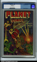 Golden Age (1938-1955):Science Fiction, Planet Comics #68 (Fiction House, 1952) CGC VF 8.0 Light Tan toOff-white pages. Later issues of Planet can be tough to ...