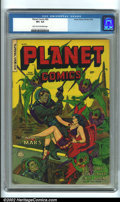 Golden Age (1938-1955):Science Fiction, Planet Comics #69 (Fiction House, 1952) CGC VF+ 8.5 Light tan tooff-white pages. Later Planets are notoriously tough in hig...