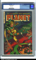 Golden Age (1938-1955):Science Fiction, Planet Comics #71 (Fiction House, 1953) CGC VF- 7.5 Cream tooff-white pages. Featuring a great Whitman cover, this scarce l...