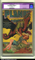 Golden Age (1938-1955):Science Fiction, Planet Comics Lot (Fiction House, 1941 and 1944). This lot consistsof three Planet Comics, all of which have Slight Pro... (Total: 3Item)