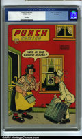 Golden Age (1938-1955):Humor, Punch Comics #16 Big Apple pedigree (Chesler, 1946) CGC VF/NM 9.0 White pages. Here is an incredibly high-grade, pedigreed b...