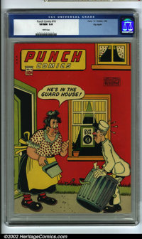 Punch Comics #16 Big Apple pedigree (Chesler, 1946) CGC VF/NM 9.0 White pages. Here is an incredibly high-grade, pedigre...
