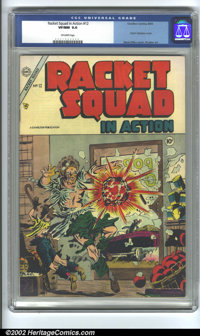 Racket Squad in Action #12 (Charlton, 1954) CGC VF/NM 9.0 Off-white pages. Steve Ditko never goes out of style, and fans...