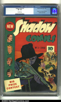 Shadow Comics #1 (Street and Smith, 1940) CGC VF- 7.5 Off-white pages. Doc Savage, the Shadow, Bill Barnes, the Astonish...