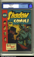 Golden Age (1938-1955):Crime, Shadow Comics #5 (Street and Smith, 1940) CGC VF/NM 9.0 Off-white pages. This is another fantastic painted cover which shows...