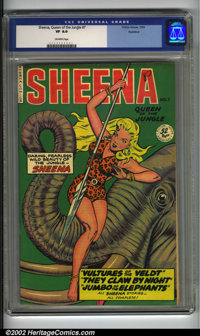 Sheena, Queen of the Jungle #7 Rockford pedigree (Fiction House, 1942) CGC VF 8.0 Off-white pages. Matt Baker's stunning...