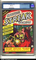 Golden Age (1938-1955):Superhero, Silver Streak Comics #2 (Lev Gleason, 1940) CGC NM- 9.2 Cream to off-white pages. Joe Simon draws a horrific cover of the Cl...
