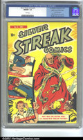 Golden Age (1938-1955):Superhero, Silver Streak Comics #4 Mile High pedigree (Lev Gleason, 1940) CGC NM/MT 9.8 White pages. Featuring a cover by Otto Binder a...